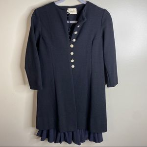 VINTAGE 60s Shift Dress with Jeweled Overcoat